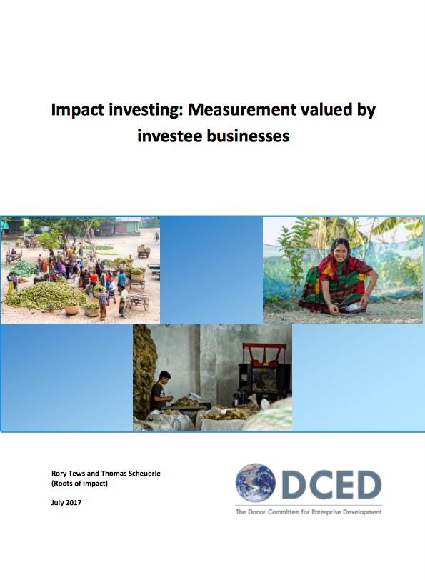 Impact Investing: Measurement valued by Invest Businesses