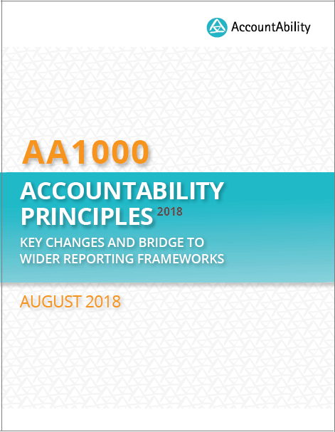 AA1000 AccountAbility Principles 2018